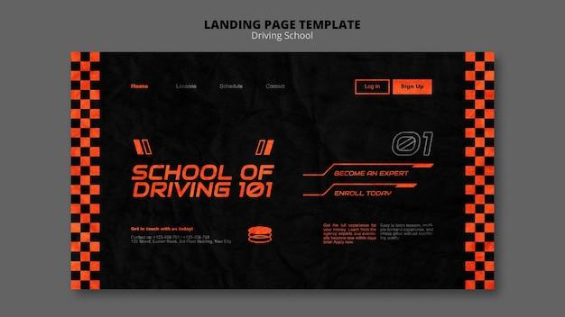 Aprenda a conduzir o modelo da página de destino