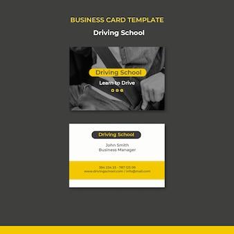 Aprenda a conduzir o modelo de cartão de visita