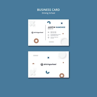 Aprenda a dirigir modelo de cartão de visita