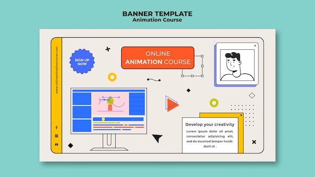 Aprenda modelo de banner de animação