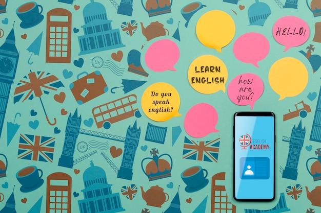 Aprenda notas adesivas da bolha do discurso em inglês