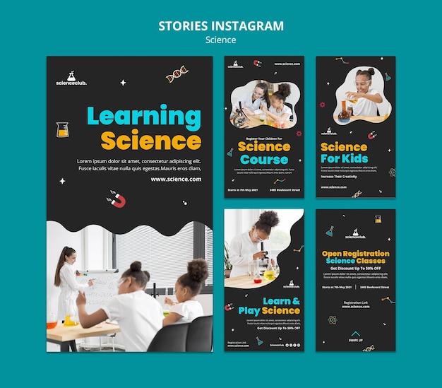 Aprendendo histórias de instagram de ciências