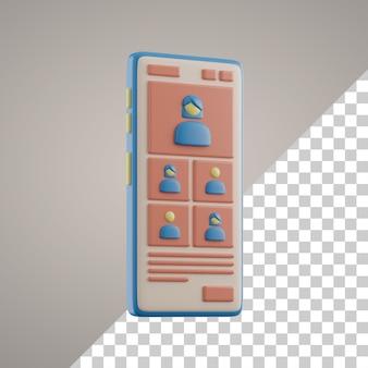 Aprendizagem 3d online no smartphone
