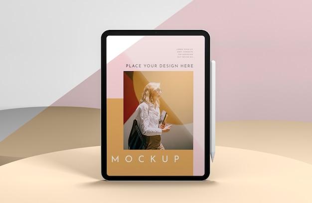 Apresentação com maquete de tela do tablet
