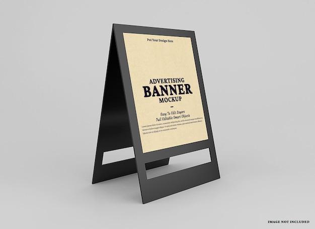 Apresentação uma maquete de banner de estande