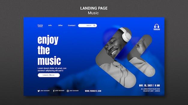 Aproveite a página de destino da música