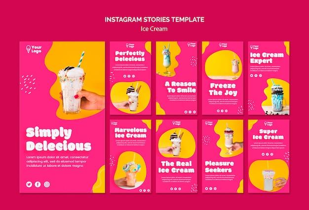Aproveite as histórias do instagram de sorvete