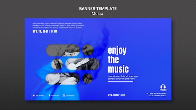 Aproveite o modelo de banner de música