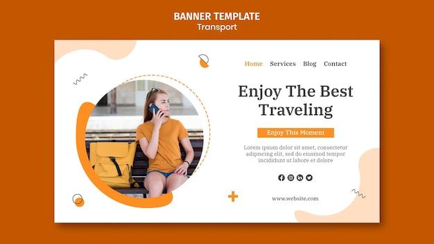 Aproveite o modelo de banner de viagem