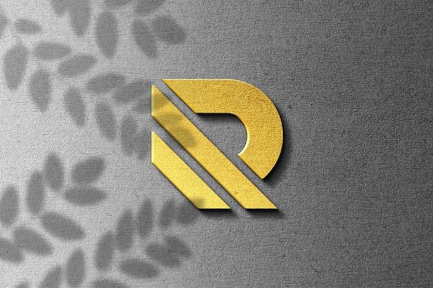 Aproxime-se do design da maquete do logotipo 3d