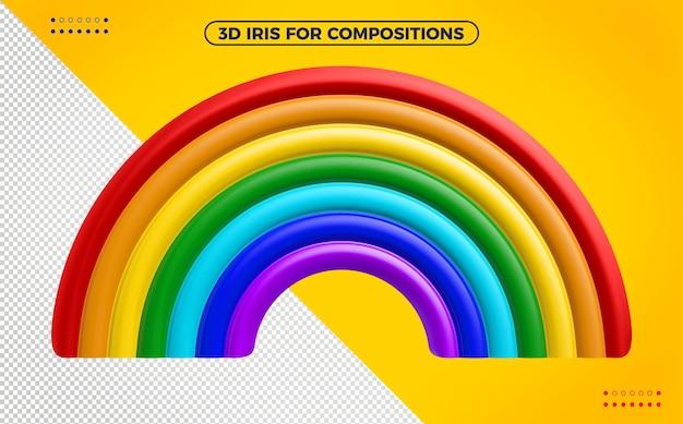 Arco-íris com cores alegres para maquiagem infantil