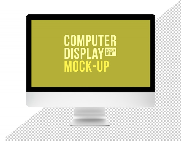 Área de trabalho do computador moderno com modelo de maquete de tela