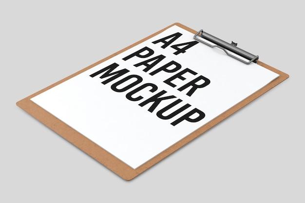 Área de transferência com uma maquete de documento