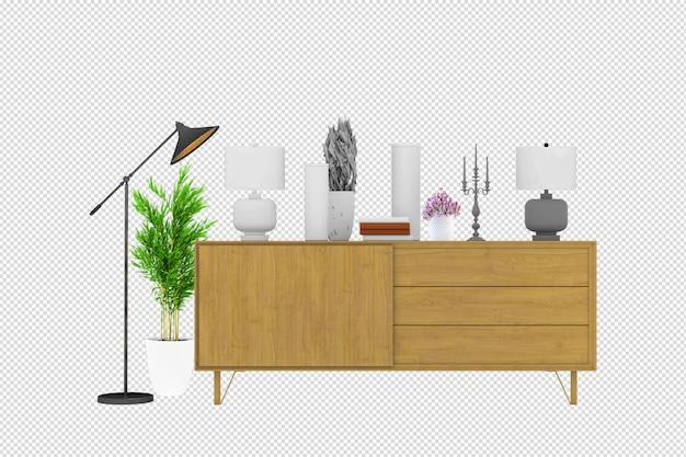 Armários e parede para tv na sala de estar
