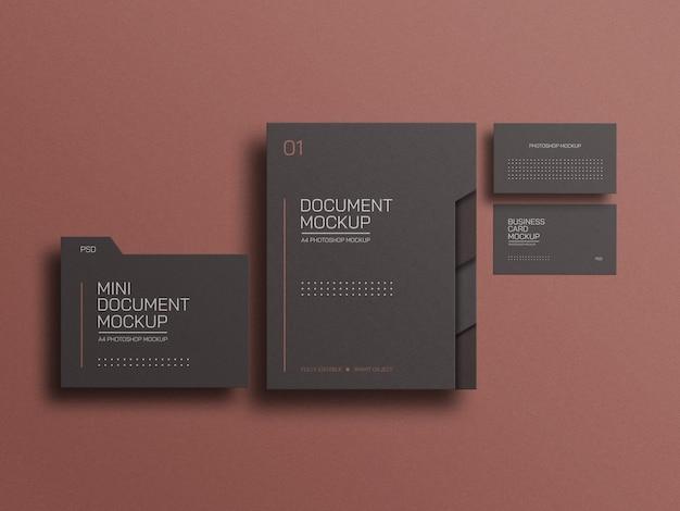 Arquivo de documento a4 com modelo de cartão de visita