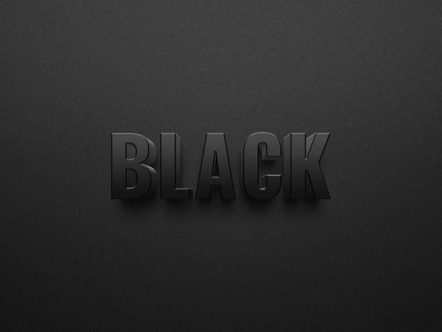 Arquivo de efeitos de texto psd em negrito escuro