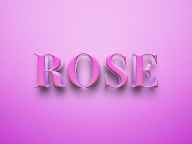 Arquivo de efeitos de texto psd pink rose