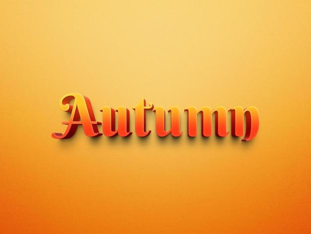 Arquivo de photoshop de efeitos de texto de outono