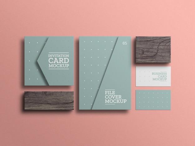 Arquivo mínimo com modelo de cartão de visita