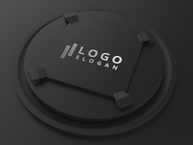 Arquivo psd de mock-up de logotipo