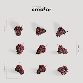 Arranjo de ação de graças com uvas