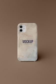 Arranjo de capa de celular mock-up