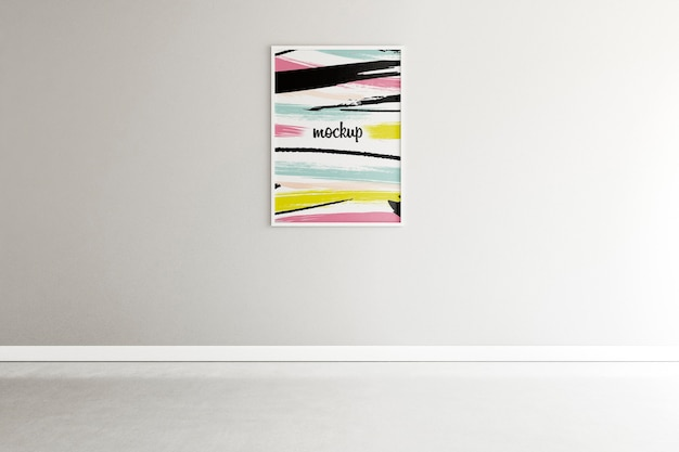 Arranjo de casa minimalista com maquete do quadro