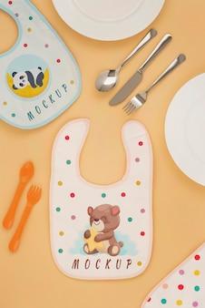Arranjo de elementos de alimentação de bebê