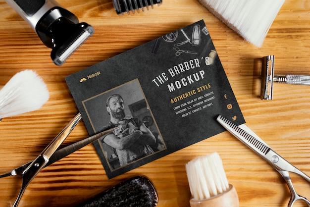 Arranjo de maquete de barbearia