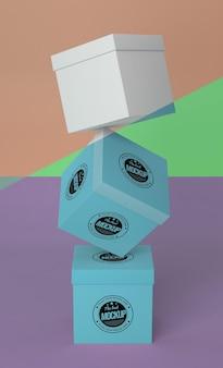 Arranjo de maquete de caixa de embalagem