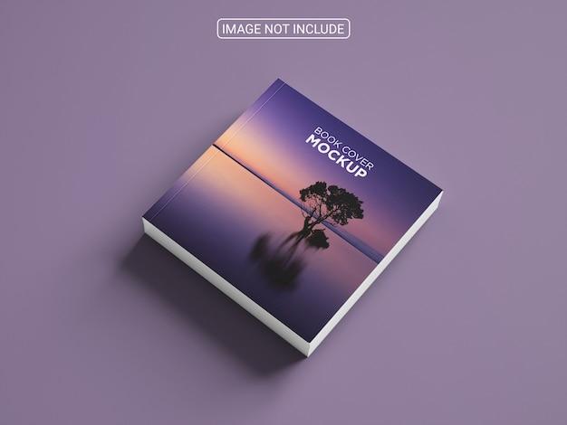 Arranjo de maquete de capa de livro minimalista quadrada