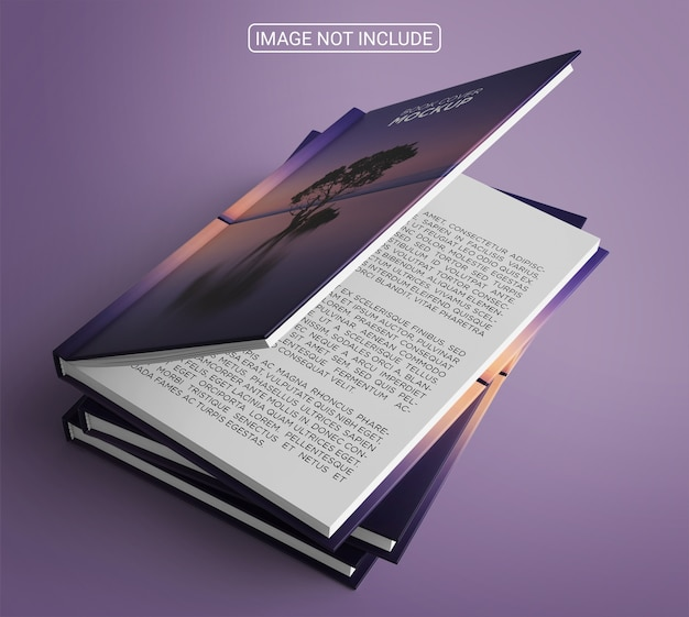 Arranjo de maquete de capa de livro