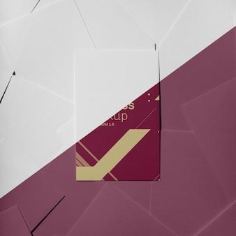Arranjo de maquete de cartão de visita