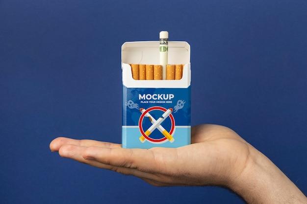 Arranjo de maquete de dia sem tabaco