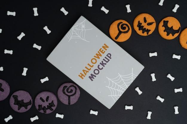 Arranjo de maquete de halloween