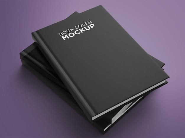 Arranjo de maquete minimalista da capa do livro com vista lateral