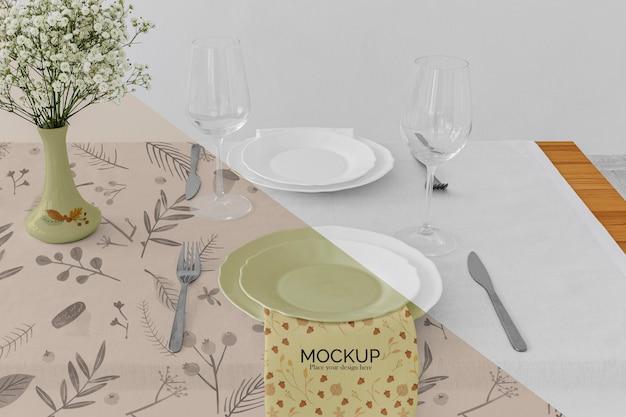 Arranjo de mesa de jantar de ação de graças