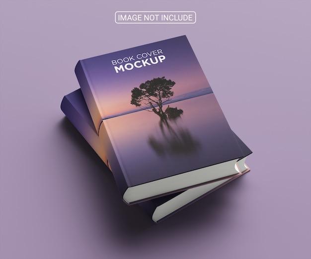 Arranjo de mock-up de capa de livro minimalista de ângulo alto