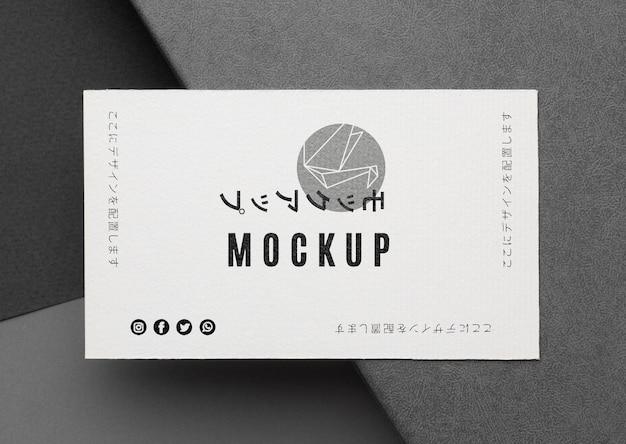 Arranjo de mock-up de cartão de visita plano