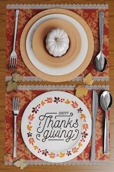 Arranjos de mesa para o dia de ação de graças