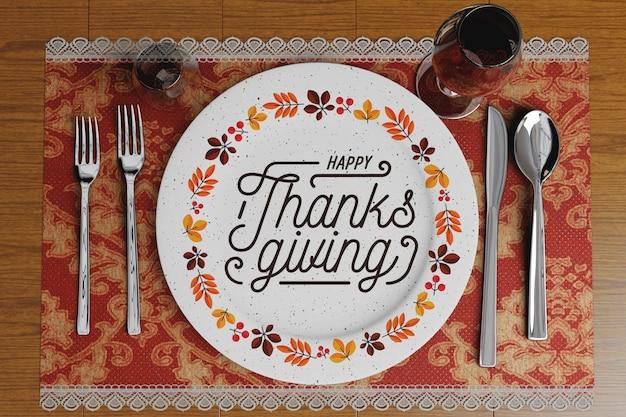 Arranjos de restaurante para o dia de ação de graças