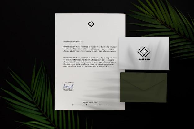 Artigos de papelaria profissional verde moderno do negócio