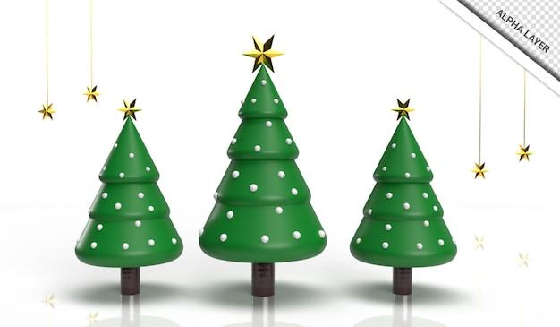 Árvore de natal de renderização 3d realista