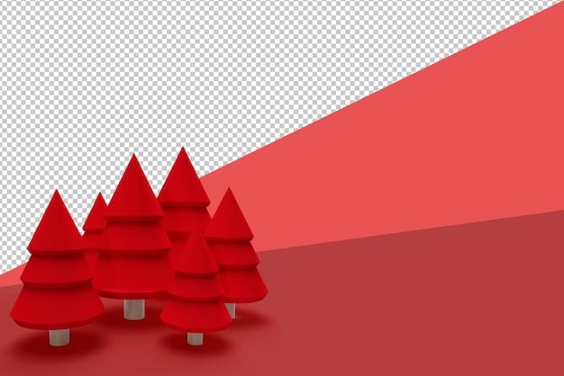 Árvore de natal em 3d renderizada isolada e isolada