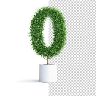 Árvore verde número 0