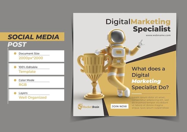 Astronauta ganhou o troféu do primeiro prêmio conceito digital instagram p