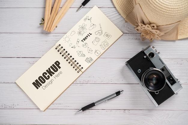 Atividade do notebook de vista superior