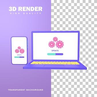 Atualização da renderização 3d para mudar para a nova versão.