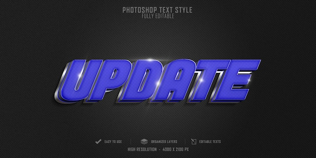 Atualização de tecnologia design de modelo de efeito de estilo de texto 3d