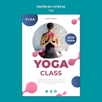 Aula de ioga de design de cartaz